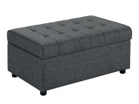 Ottoman - Grey Classic French Bedroom Ottoman