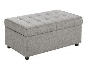 Ottoman- Light Grey Classic French Bedroom Ottoman