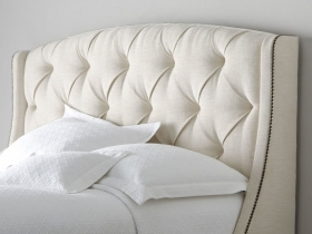 Platform bed - Phoenix White Tufted
