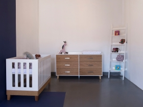 Combi Set Stijl Cot,  Morgan Compactum (XL) and Cozi Bookshelf