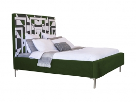 Platform Bed - Mpho Emerald Green Velvet