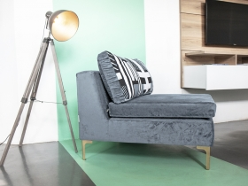 Occasional Chair - Thandeka Steel Grey Velvet