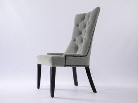 Dining Chair - Andrea Light Grey Upholstered Velvet