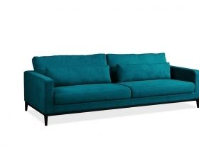 Syrin 3 Seater Couch- Peacock Blue Velvet