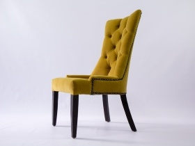 Dining Chair - Andrea Gold Yellow Upholstered Velvet