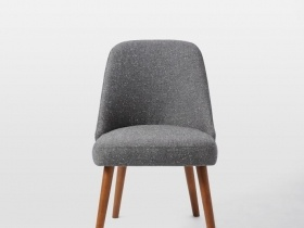 Lena Mid Century Dining Chair - Grey Fabric