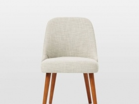 Lena Mid Century Dining Chair - Beige Fabric
