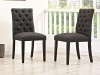 Suze Dining chair - Dark Grey Fabric