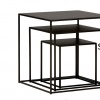 Hill Nesting Table S - Blackened Powder Coated