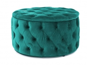 Julianne Round Tufted Storage Ottoman - Turquoise (large)
