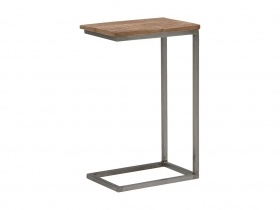 Ora Side Table - White Oak with a Metal Base (M)