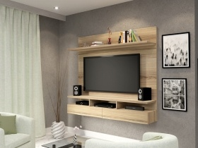 Floating Tv Wall Unit Vela Sahara 1 Tone
