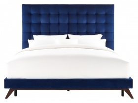 Platform Bed- Orion Blue Velvet