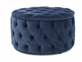 Julianne Round Tufted Storage Ottoman - Blue (large)