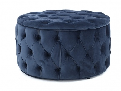 Magnificent Julianne Round Tufted Storage Ottoman Blue Large Andrewgaddart Wooden Chair Designs For Living Room Andrewgaddartcom
