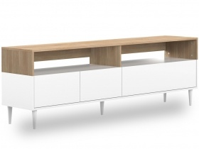 Halo TV Cabinet Oak and White Finish