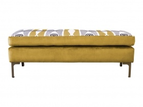 Ottoman - Sifiso Honey Yellow Velvet