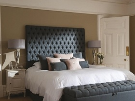 Headboard - Aquilla Grey Fabric Headboard