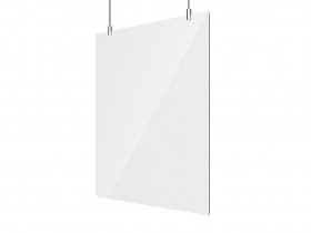 Office Sneeze Screen Suspended incl Suspension kit 660W x 750H