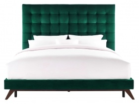 Platform Bed  - Orion Green Velvet