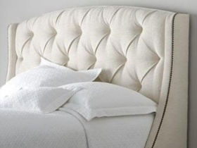 Headboard - Phoenix White Tufted Headboard