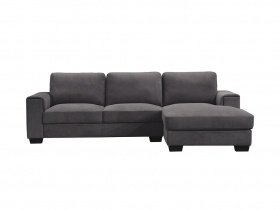 Cosmopolitan Corner Chaise Couch - Grey Fabric