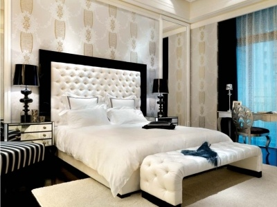 Platform Bed Perseus Headboard With Wooden Panel And Bed Base Magnificent Bedroom Furniture Spot