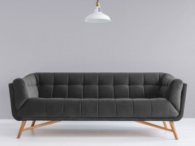 Margot 3 seater couch in grey velvet