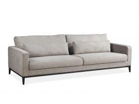 Syrin 3 Seater Sofa - Mayfair Graphite Grey Fabric