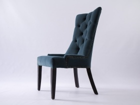 Dining Chair - Andrea Blue Upholstered Velvet