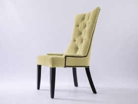 Dining Chair - Andrea Beige Upholstered Velvet