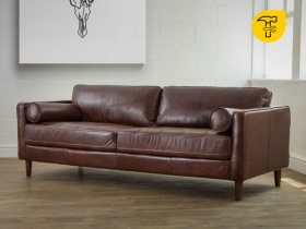 Cordoba Vintage Leather Couch - Brown
