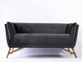 Sofa - Dark Grey Velvet Sofa