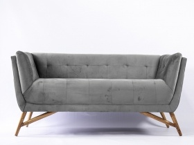 Sofa - Light Grey Velvet Sofa