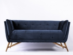 Sofa - Dark Blue Velvet Sofa