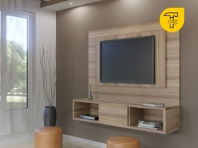 Floating TV Wall Unit   Gemini Sahara 1 Tone Double Back