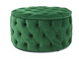 Julianne Round Tufted Storage Ottoman - Green (large)