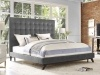 Platform Bed - Orion Light Grey Velvet