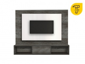 Floating TV Wall Unit - Gemini Aged Stone 2 Tone  Double Back