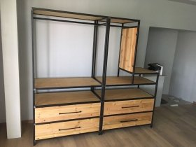 Industrial Wardrobe L Shape Unit