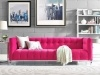 Sofa - Button-tufted Backrest In Pink