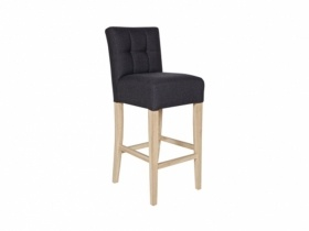 Barstool in black and  with a backrest