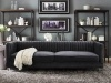 Sofa - Black Velvet With Stripes