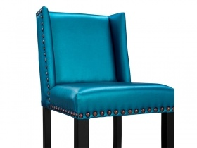 Bar Stool - Blue Satin Bar stool
