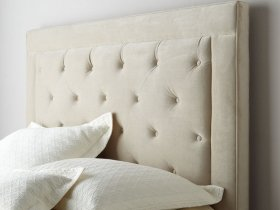 Headboard - Creme Tufted Panel