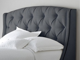 Headboard - Phoenix Grey Tufted Headboard