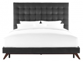 Platform Bed - Orion Dark Grey Velvet