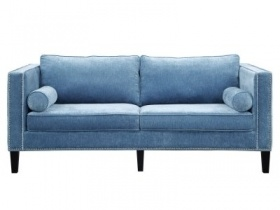Sofa - Light Blue Velvet