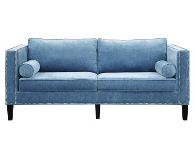 Sofa Light Blue Velvet Couches Furniturespot