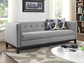 Sofa - Modern Grey 3 Seater